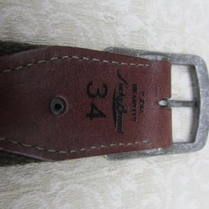 Lucky Brand Accessories - Lucky Brand Khaki Cotton Green Web Belt 34